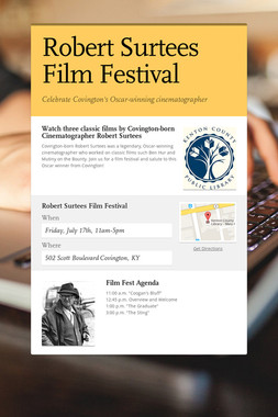 Robert Surtees Film Festival