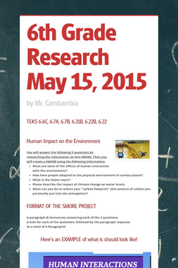 6th Grade Research May 15, 2015