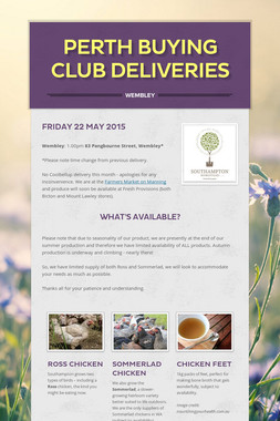 Perth buying club deliveries