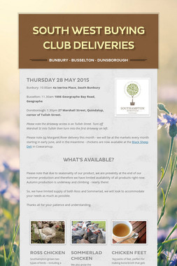 South West buying club deliveries