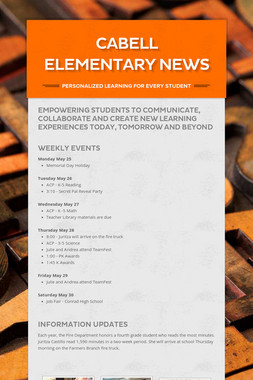 Cabell Elementary News