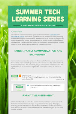 Summer Tech Learning Series