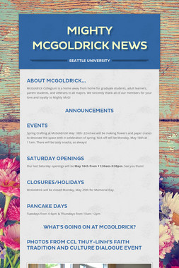 Mighty McGoldrick News