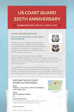 US Coast Guard 225th Anniversary