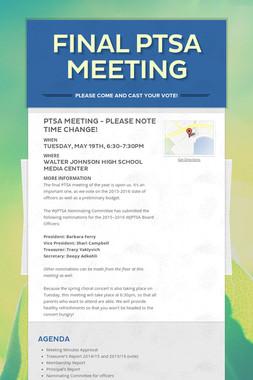 FINAL PTSA MEETING
