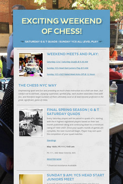 Exciting Weekend of Chess!