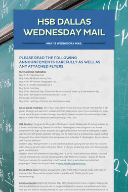 HSB DALLAS WEDNESDAY MAIL
