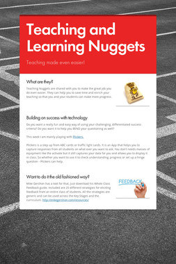 Teaching and Learning Nuggets