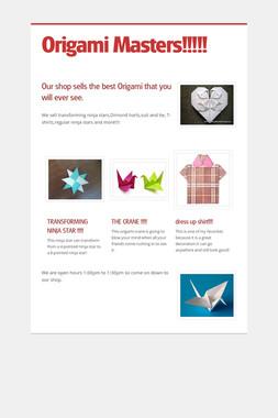 Origami Masters!!!!!