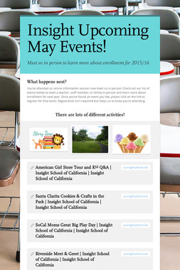 Insight Upcoming May Events!
