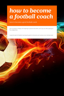 how to become a football coach