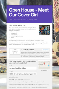 Open House - Meet Our Cover Girl