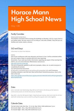 Horace Mann High School News
