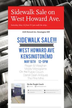 Sidewalk Sale on West Howard Ave.