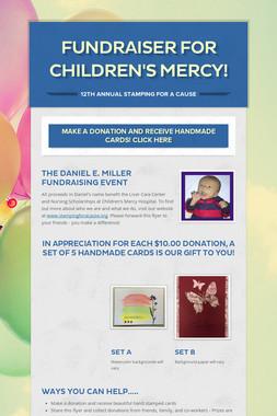 Fundraiser for Children's Mercy!