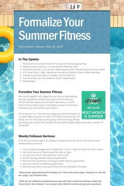 Formalize Your Summer Fitness