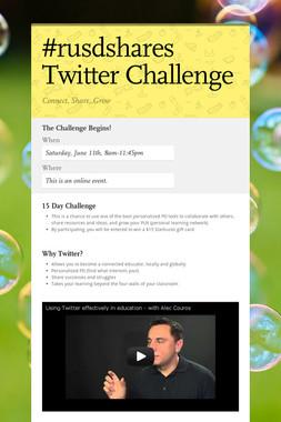 #rusdshares Twitter Challenge
