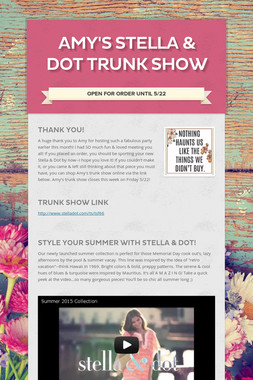 Amy's Stella & Dot Trunk Show