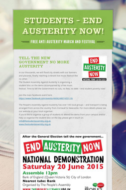STUDENTS - End Austerity Now!