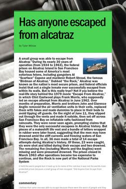 Has anyone  escaped from alcatraz