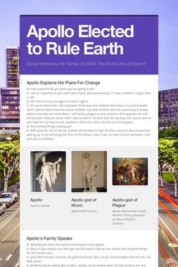 Apollo Elected to Rule Earth