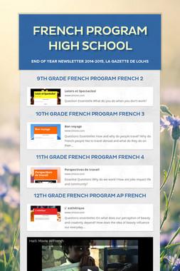 French Program High School