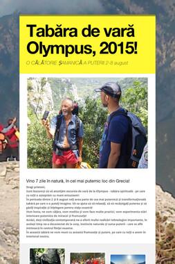Tabăra de vară Olympus, 2015!