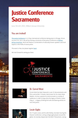 Justice Conference Sacramento