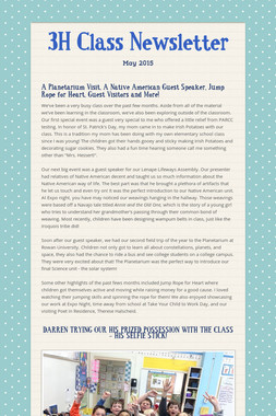 3H Class Newsletter