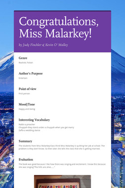Congratulations,Miss Malarkey!