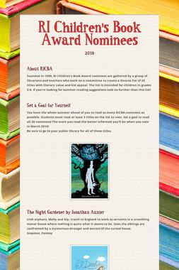 RI Children's Book Award Nominees