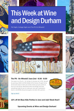 This Week at Wine and Design Durham