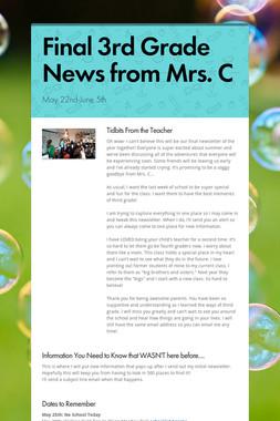 Final 3rd Grade News from Mrs. C