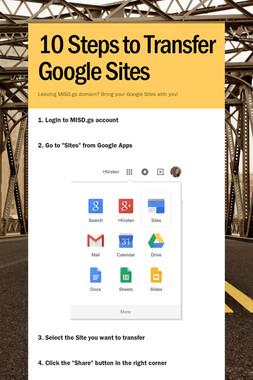10 Steps to Transfer Google Sites