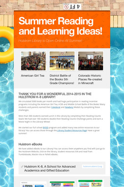 Summer Reading and Learning Ideas!