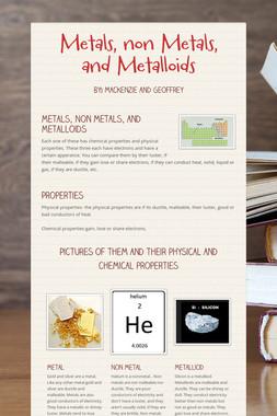 Metals, non Metals, and Metalloids