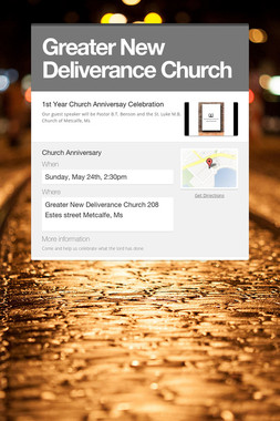 Greater New Deliverance Church
