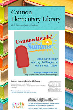 Cannon Elementary Library