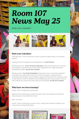 Room 107 News May 25