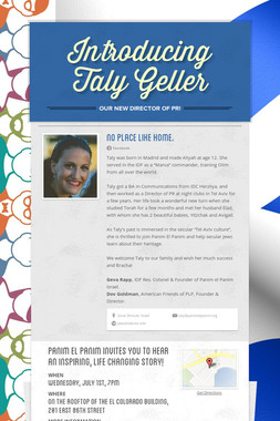 Introducing Taly Geller