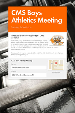 CMS Boys Athletics Meeting