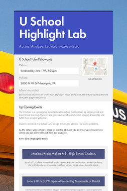 U School Highlight Lab