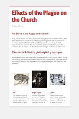 Effects of the Plague on the Church