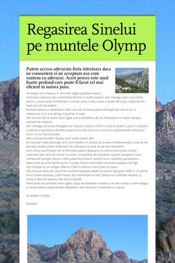 Regasirea Sinelui pe muntele Olymp