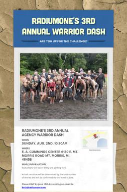 RadiumOne's 3rd Annual Warrior Dash