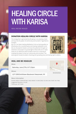 HEALING CIRCLE WITH KARISA