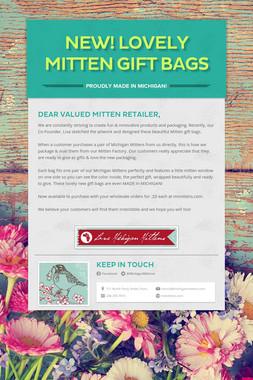 New! Lovely Mitten Gift Bags