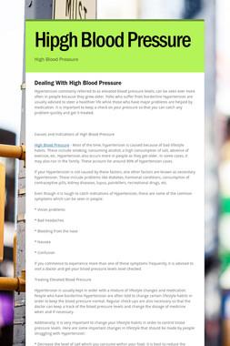Hipgh Blood Pressure