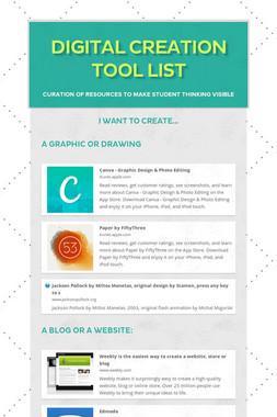 Digital Creation Tool List
