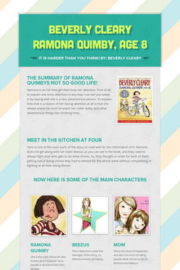 Beverly Cleary Ramona Quimby, Age 8